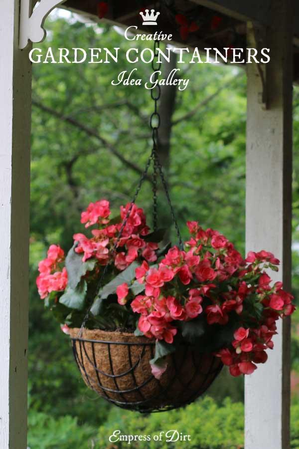 16+ Creative DIY Garden Containers