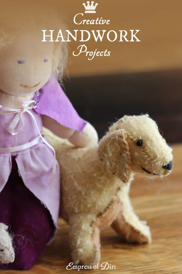 Creative handwork and sewing ideas including Waldorf-style dolls.
