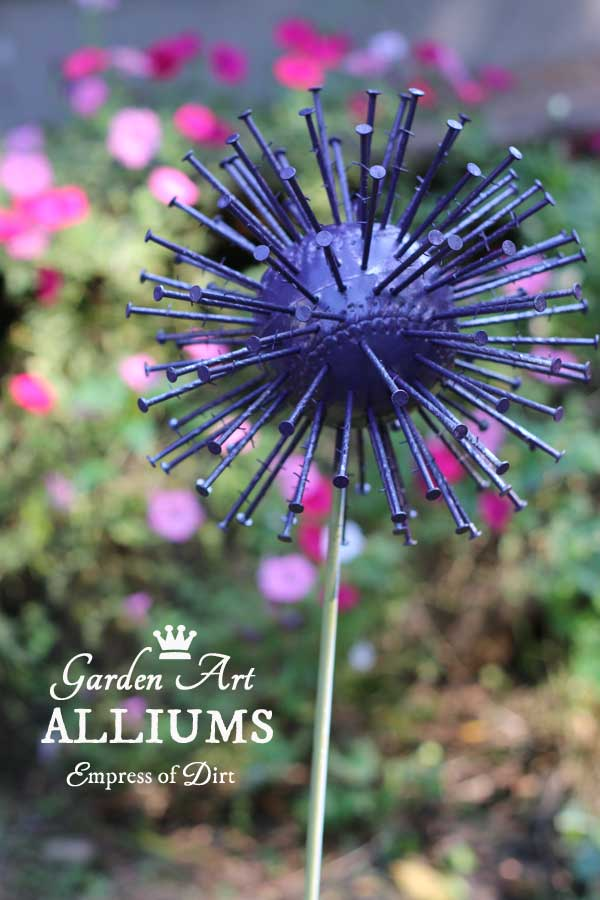 How to make giant garden art alliums empress of dirt for Garden decorations to make