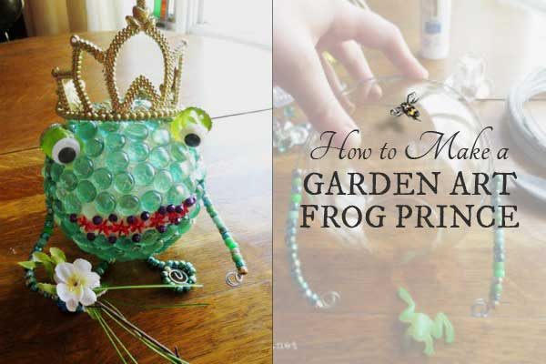 How to make a charming garden art frog prince for your garden.