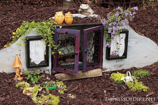 Lovely How To Turn A Basic Thrift Shop Knick Knack Curio Cabinet Into An  Enchanting Mini