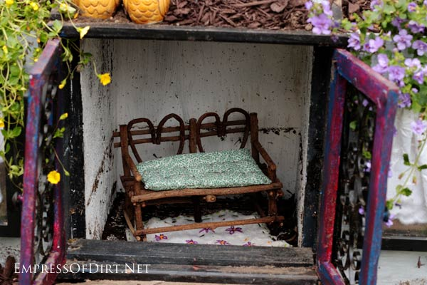How To Turn A Basic Thrift Shop Knick Knack Curio Cabinet Into An  Enchanting Mini
