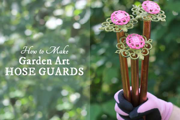 DIY Garden Art Hose Guards to Protect Your Plants
