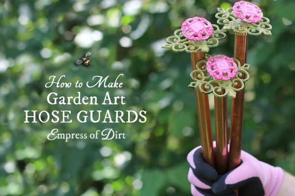 How to make garden art hose guards