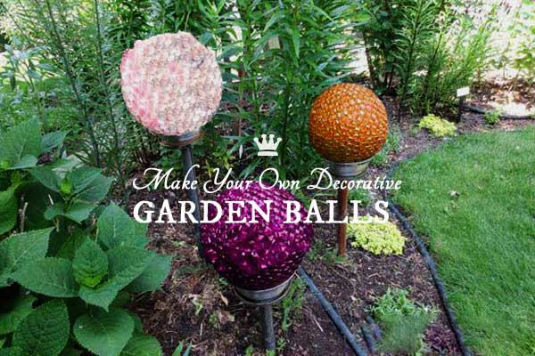 DIY Recycled Decorative Garden Balls - free tutorial