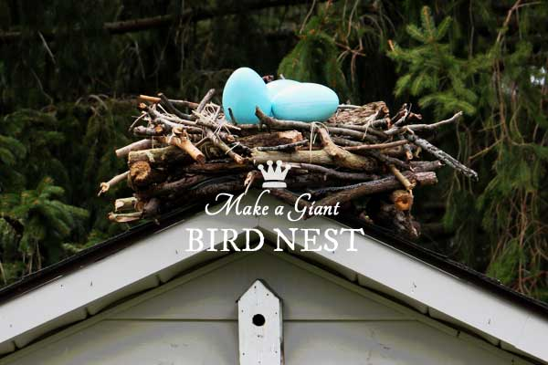 DIY Giant Garden Art Bird Nest
