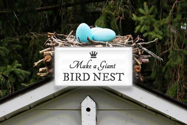Make a giant garden art bird nest