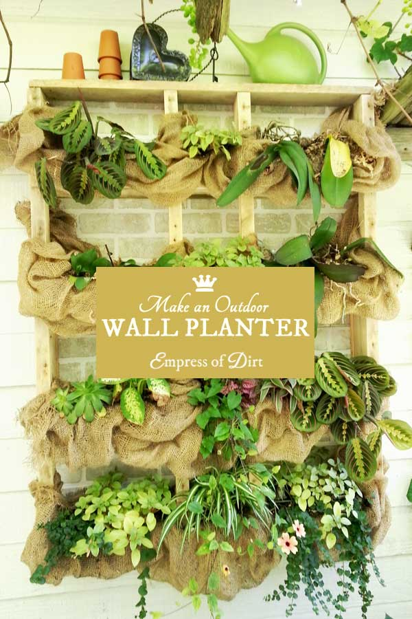 Make an outdoor, wall-mounted planter with 2x4s