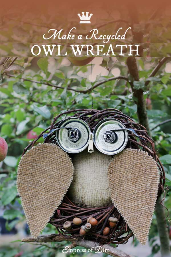 DIY Repurposed Owl Wreath + Bad Owl Puns