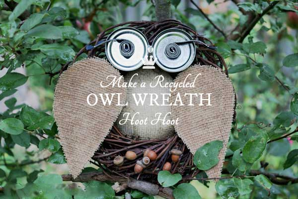 Make a Recycled Owl Wreath