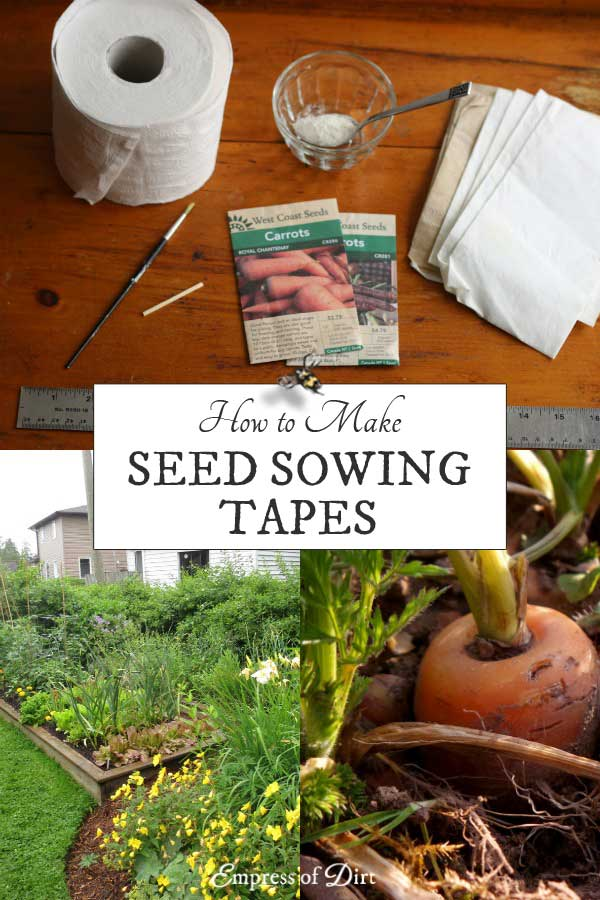 Some garden seeds are very hard to sow because they are so tiny. Once in the soil, the rain often washes them away. To solve this, try making homemade seed tapes to be sure the seeds grow right where you want them.