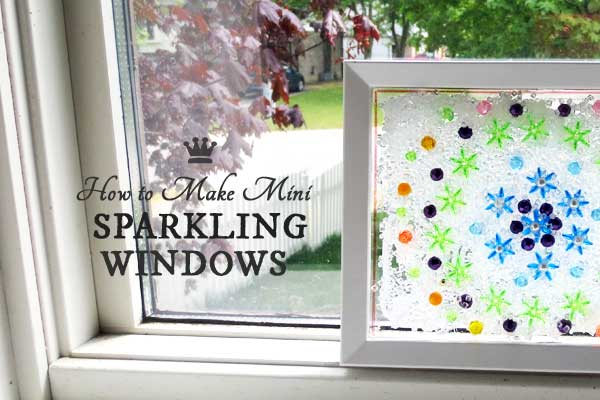 Little Sparkling Window DIY - free tutorial