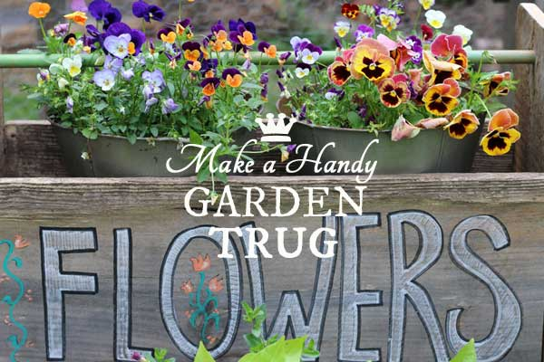 How to make a hand-painted garden trug