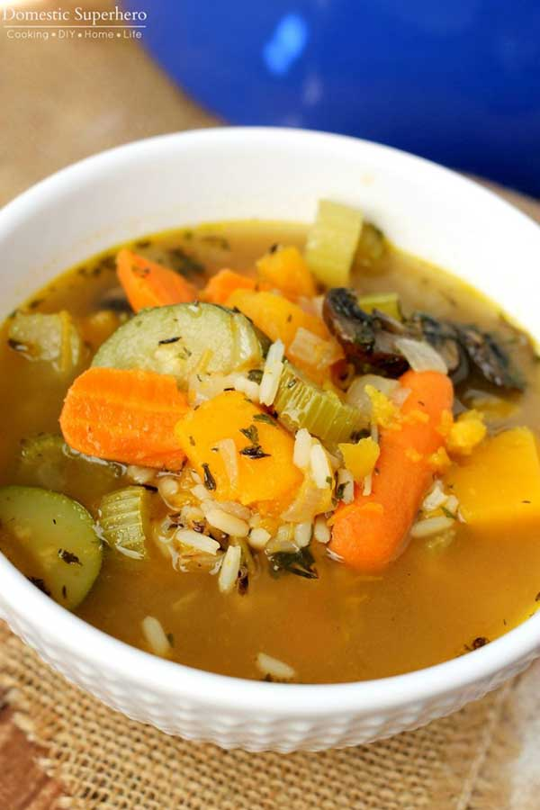 Vegetable and wild rice soup | 12 Vegetarian Soup Recipes for delicious snacks and meals