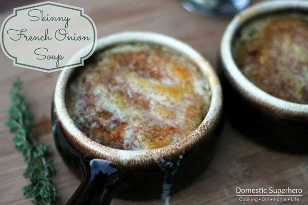 Skinny French onion soup | 12 Vegetarian Soup Recipes for delicious snacks and meals