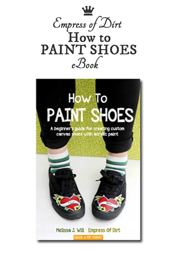 How to Paint Shoes is an ebook for beginners wanting to learn how to paint custom designs on canvas shoes.