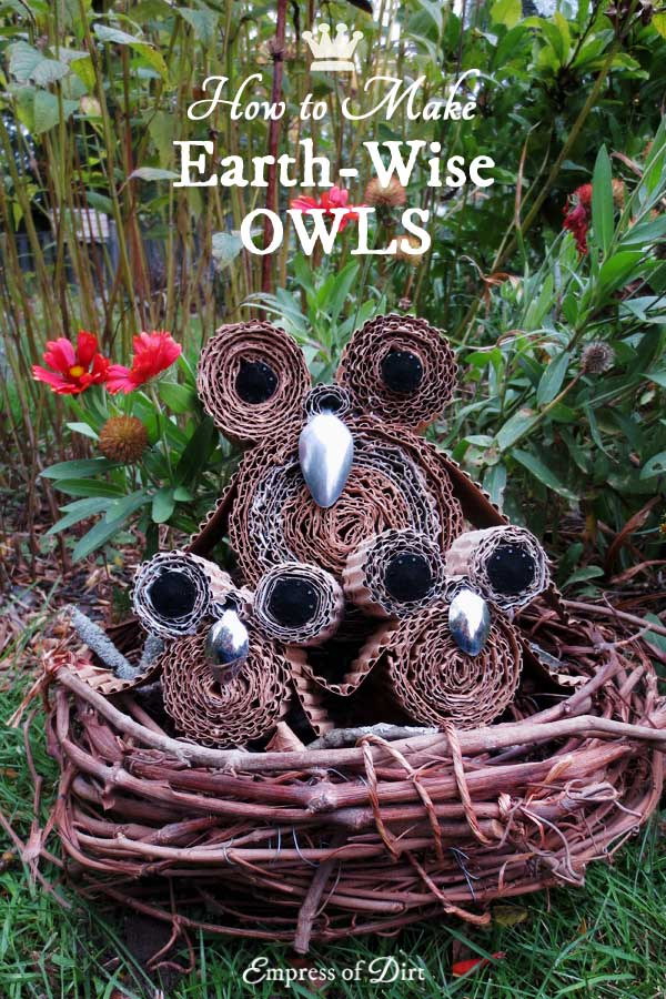 Earth-wise owls - owl craft project