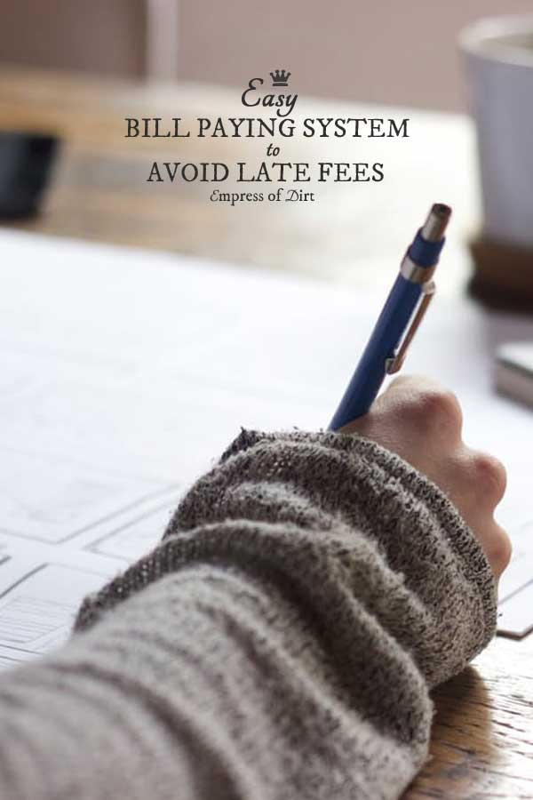 Easy Bill Paying System to Avoid Late Fees