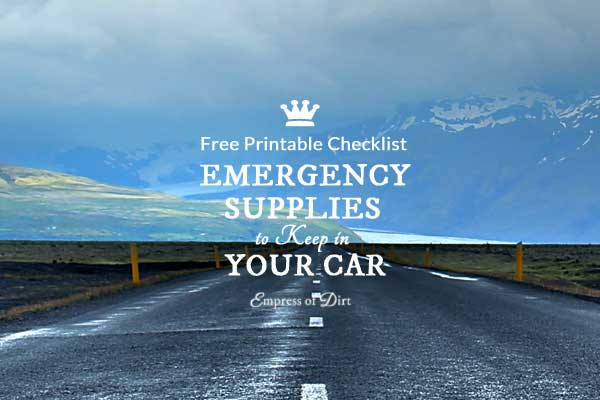 Emergency Car Kit Checklist | Free Printable