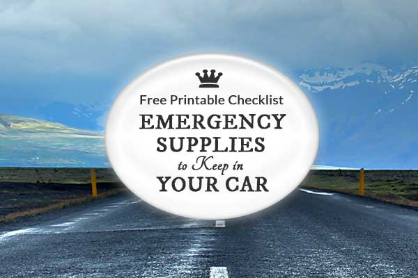 Emergency Car Kit Checklist | Free Printable