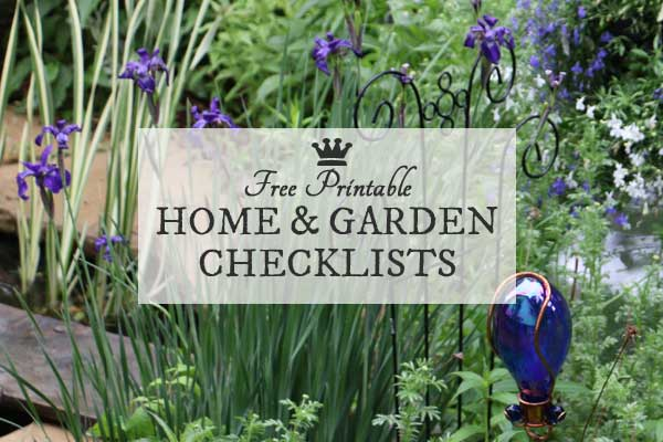 Free Printable Home & Garden Checklists