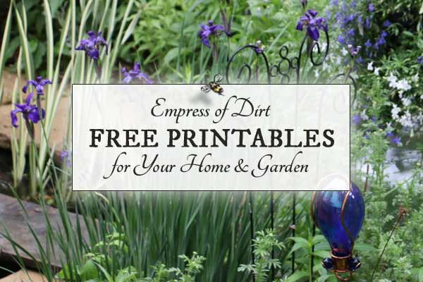 Free printable checklists for home organization and garden tasks at Empress of Dirt.