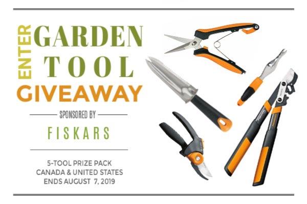 Garden tool giveaway sponsored by Fiskars.