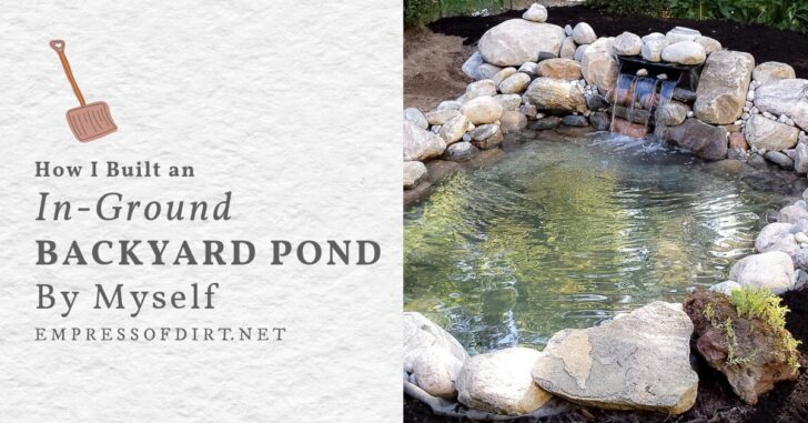 Backyard garden pond built by one person.