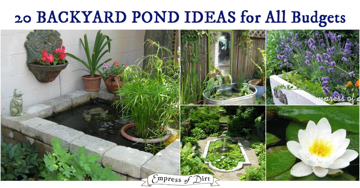 Backyard Ponds 20 beautiful backyard pond ideas for all budgets | empress of dirt