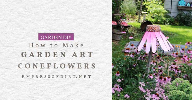 Garden art coneflower