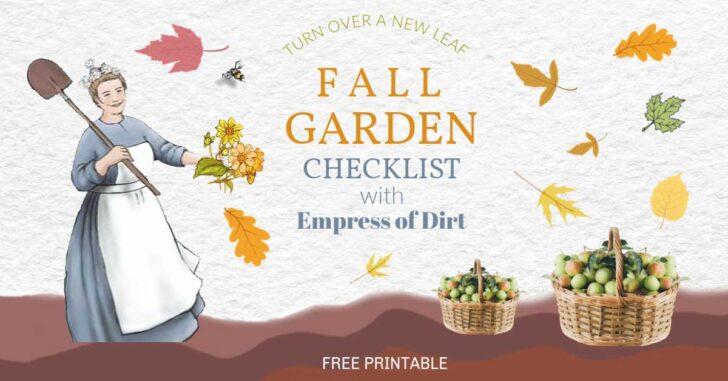 Empress of Dirt in the fall garden.