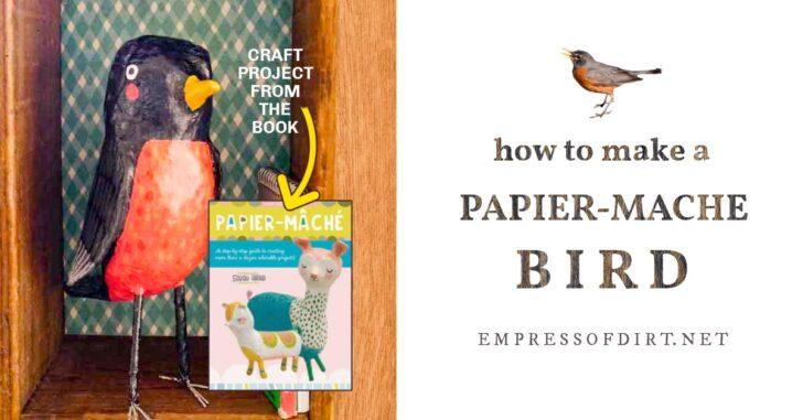 Papier-Mache bird by Sarah Hand