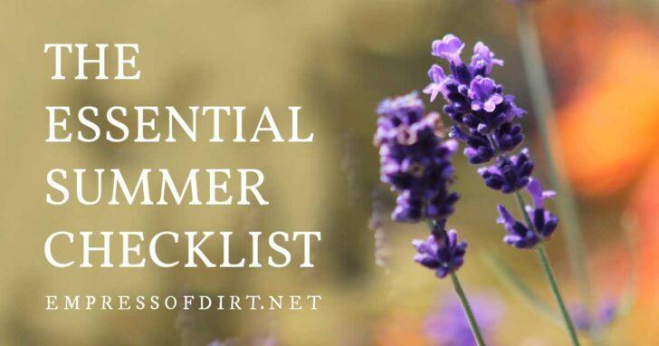 The Essential Summer Checklist