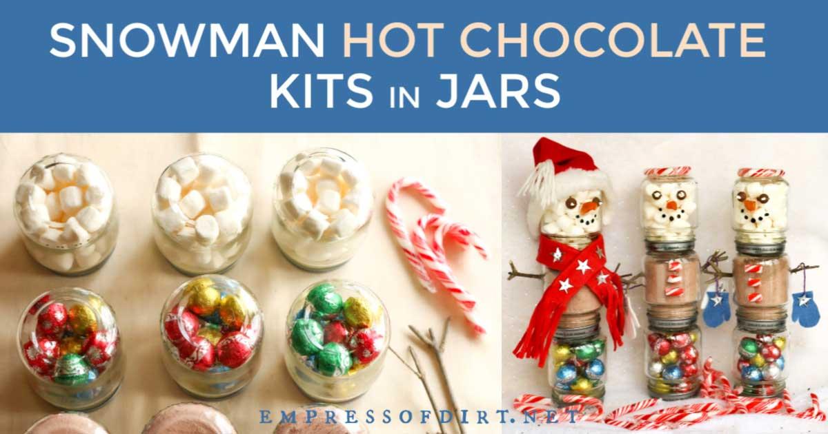 Snowman hot chocolate kits.