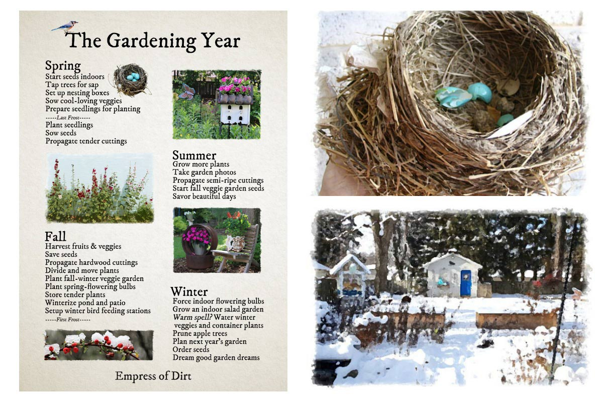 The Gardening Year Through the Seasons - Empress of Dirt