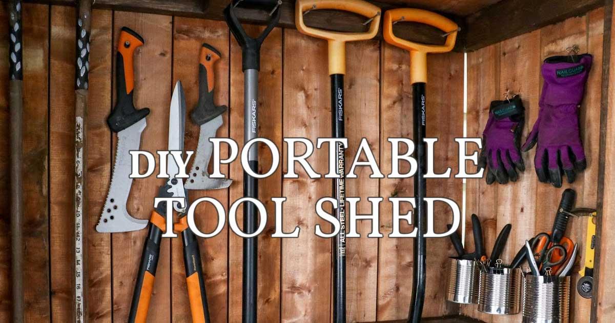 DIY portable garden tool shed