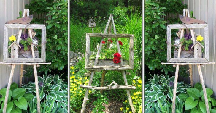 Garden art easels.