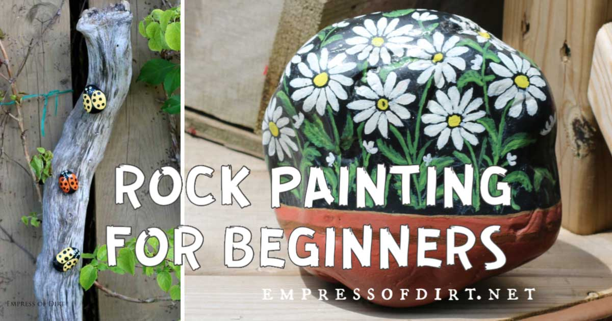 How To Hand Paint Rocks And Stones Empress Of Dirt