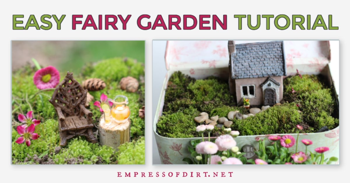 How To Make A Fairy Garden In An Old Suitcase