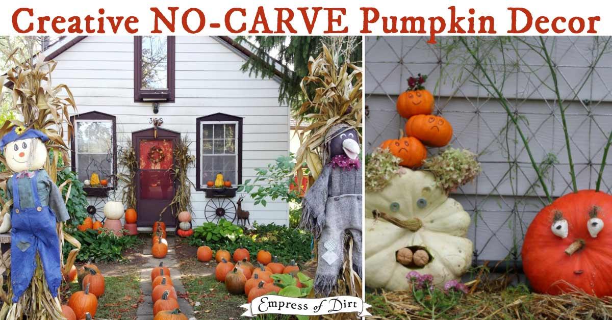 No-carve pumpkin decorating ideas.
