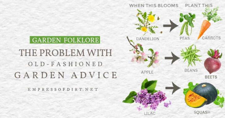 Examples of old fashion garden advice that is not reliable.