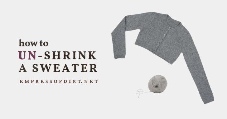 A shrunken gray wool sweater.