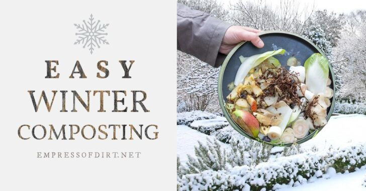 Keeping compost in the winter outdoors.