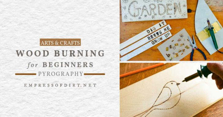 Wood burning (pyrography) tools and materials.