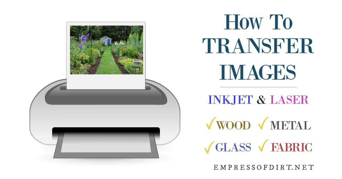 Image transfer methods including printer.