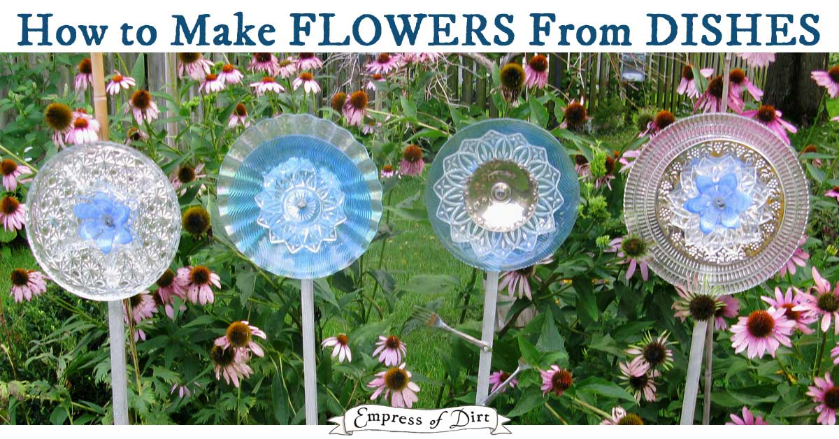 Garden Flower Art how to make garden art flowers from dishes - empress of dirt