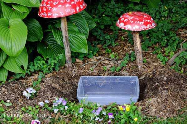 Make a working fountain for a miniature fairy garden.
