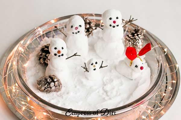 How to make fake snow and diy mini snowmen empress of dirt