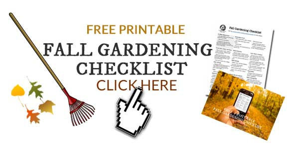 Free printable fall gardening checklist