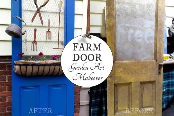 Free Farm Door Garden Art Makeover